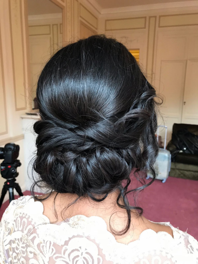 - Make Me Bridal Artist: Rosie Hart . #bohemian #boho #bridalhair #updo #tousled #romantichairup #hairup #bridesmaidhair #hairvolume #gorgeous #twistedupdo