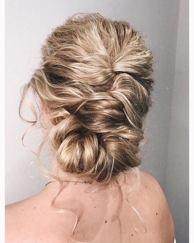 - Make Me Bridal Artist: Rosie Hart . #bohemian #bridalhair #tousled #romantichairup #hairup #curls #naturalbridal #lowupdo #twistedupdo #elegantupdo #texturedupdo