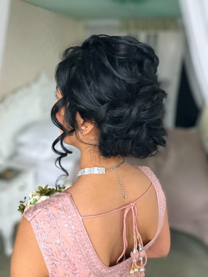 - Make Me Bridal Artist: Carter Hair & Makeup. #relaxedupdo #beforeandafter #curlyhair
