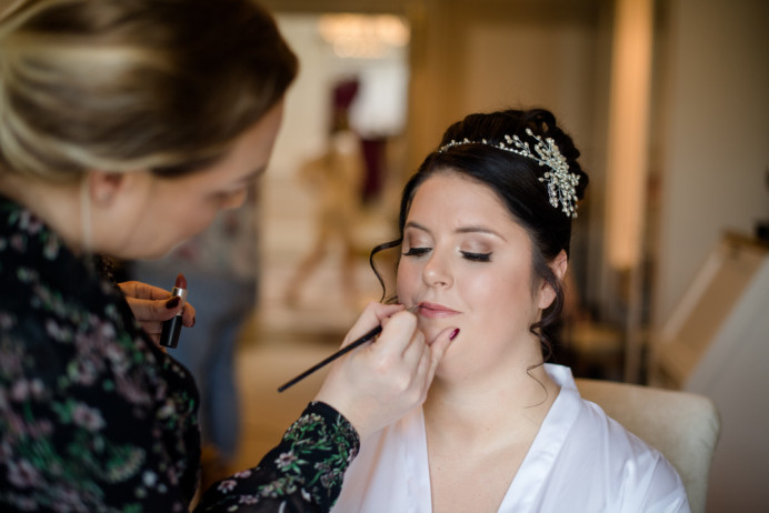 - Make Me Bridal Artist: Make-up By Lexi Brownfield. #halfuphair #airbrushedmakeup #updo #lashes #flawlessbride