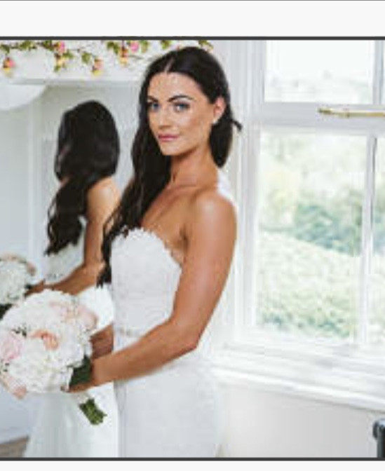 - Make Me Bridal Artist: Make-up By Lexi Brownfield. Photography by: Lavenham Photography. #classic #weddingmorning #bridalmakeup #beautiful #lace #hairdown