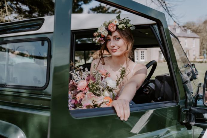 - Make Me Bridal Artist: Hayley Clarke Makeup Artist. Photography by: Emma Shaw Photography. #bohemian #flowercrown #bridalmakeup #coolbride #bohobride #glowingskin