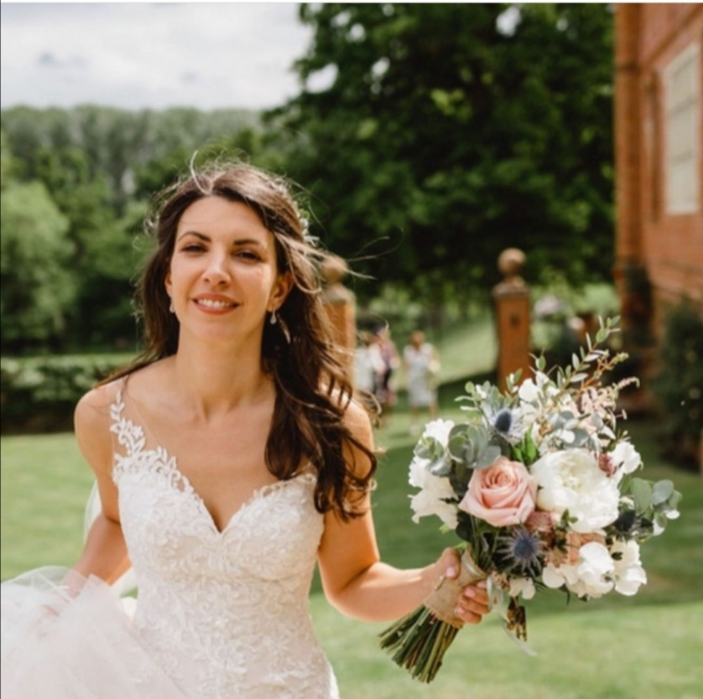 Laura's beautiful wedding at Oxnead Hall - Make Me Bridal Artist: Hayley Clarke Makeup Artist. Photography by: Luis Holden. #bohemian #naturalmakeup #glow #bridalmakeup #bohobride #makeupartistnorfolk #norfolkwedding