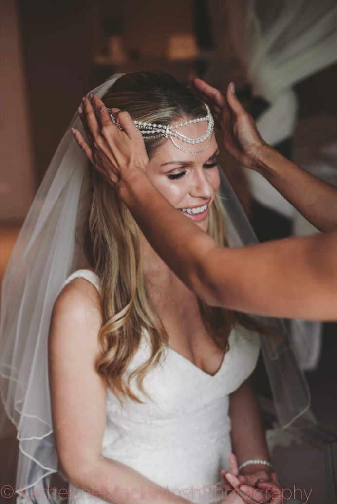 Kelly and her gorgeous Boho Bridal look elegant and sophisticated. - Make Me Bridal Artist: Hayley Clarke Makeup Artist. Photography by: Katherine Mackintosh. #bohobride #weddingmakeup #beautifulbridalmakeup #glowingskin #glowingmakeup #norfolkwedding #norfolkmakeupartist