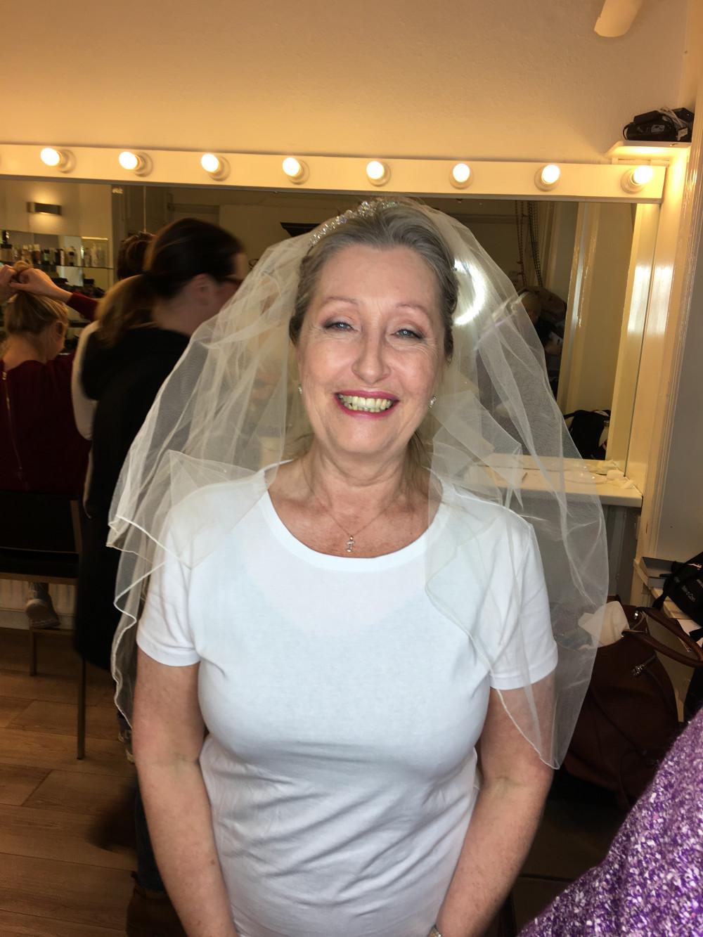 Beautiful makeup for a mature bride on set - Make Me Bridal Artist: Abbi Parsley MUA. #naturalmakeup #matureskin #bride #maturebride