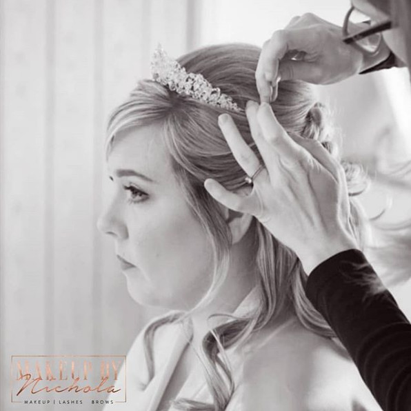 Hair and airbrush makeup by Nichola - Make Me Bridal Artist: Makeup By Nichola. Photography by: Doodle Shots Photography.