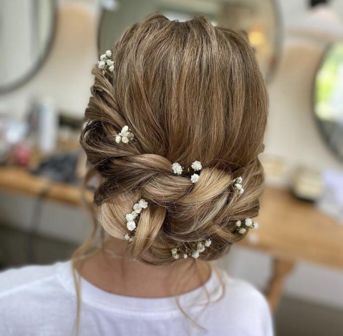 - Make Me Bridal Artist: Suzanne Dusek Hair & Makeup. #bridesmaidhair