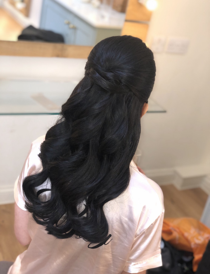 Bridal Hair at Millbridge Court in Hampshire - Make Me Bridal Artist: Suzanne Dusek Hair & Makeup.