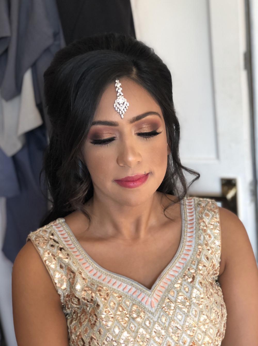 Asian Wedding Hair & Makeup in Woking Surrey - Make Me Bridal Artist: Suzanne Dusek Hair & Makeup.