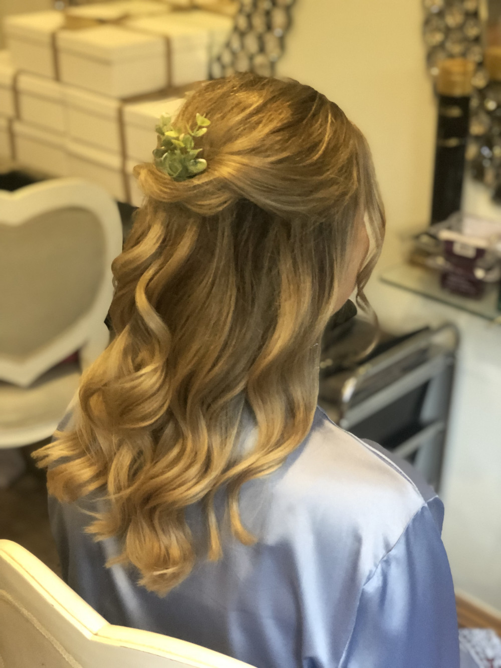 Bridesmaid Hair at Rivervale Barn in Surrey - Make Me Bridal Artist: Suzanne Dusek Hair & Makeup.