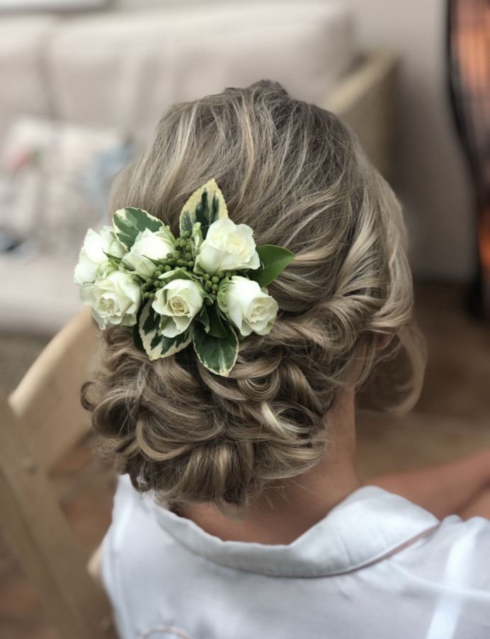 Bridal Hair at Ufton Court in Berkshire - Make Me Bridal Artist: Suzanne Dusek Hair & Makeup.