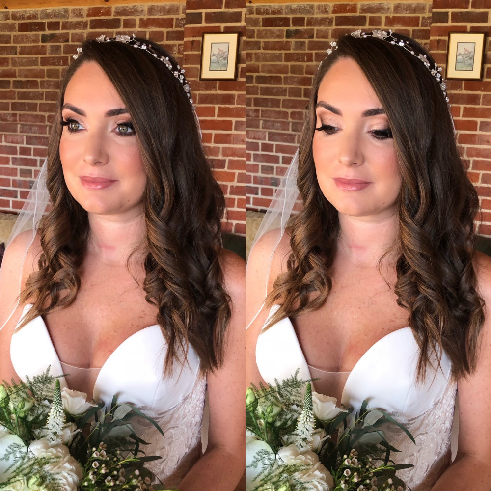Venue: Langley Abbey Photography: James Powell Photography Floristry: Ivy Floral Events - Make Me Bridal Artist: Eleanor Ainslie Artistry. Photography by: James Powell. #classic #glamorous #bridalmakeup #smokeyeyes