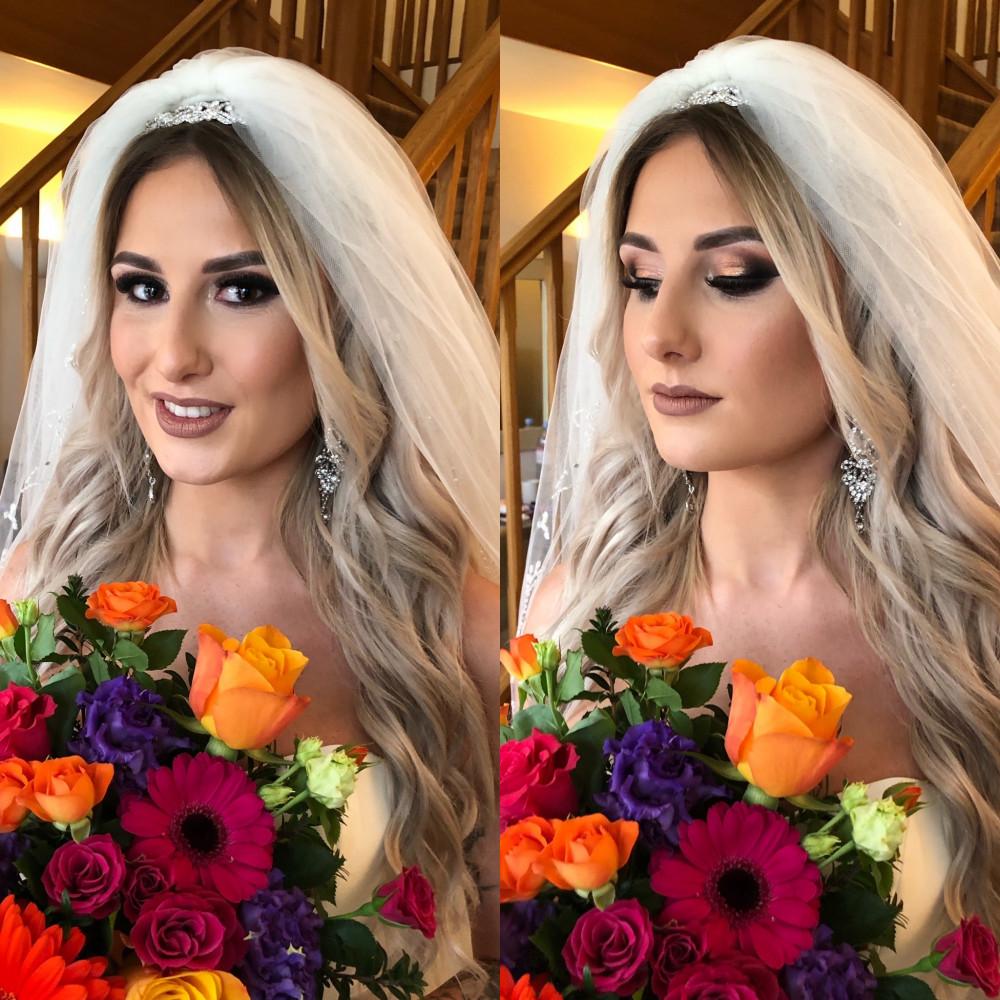 Venue: Elms Barn Photography: Sam Gee Photography - Make Me Bridal Artist: Eleanor Ainslie Artistry. Photography by: Sam Gee Photography. #glamorous #glam