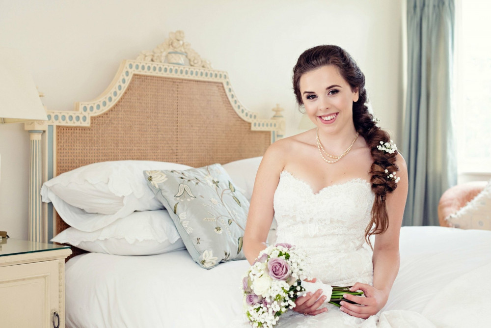 Venue: Elms Barn Hair: Gemma Holiday Hair Artistry Photography: Clare Butler Photography - Make Me Bridal Artist: Eleanor Ainslie Artistry. Photography by: Clare Butler.