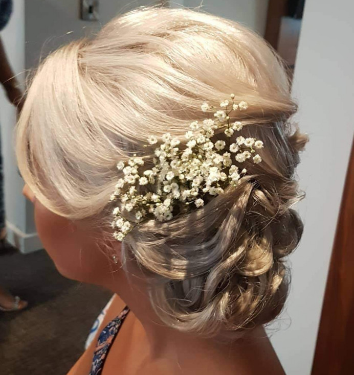 - Make Me Bridal Artist: Hair Creations North West. #gypsophila #bridesmaidhair #haircreationsnorthwest