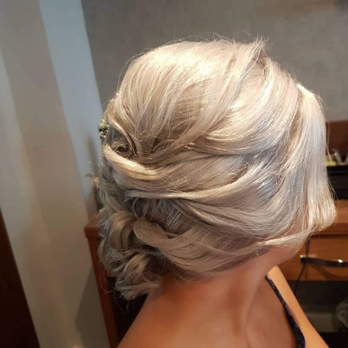 - Make Me Bridal Artist: Hair Creations North West. #gyposphila #bridesmaidhair