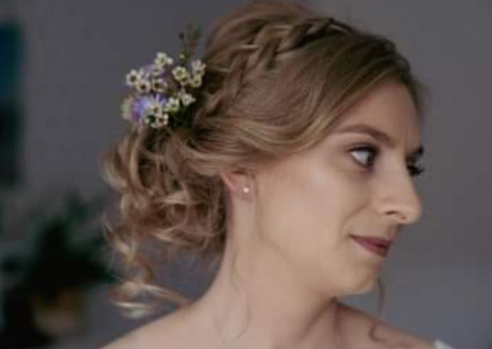 - Make Me Bridal Artist: Hair Creations North West. Photography by: Emilyetopping. #glamorous #bridalhair #flowersinherhair #romantichairup #hairup #bridalhairstylist #hairstyling #plait #realflowers