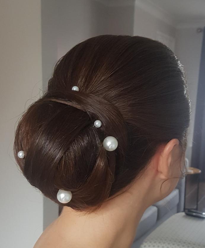 - Make Me Bridal Artist: Hair Creations North West. #classic #weddinghair #bridalhair #bun #bride #smoothupdo #sleekupdo #detailedupdo #pearl