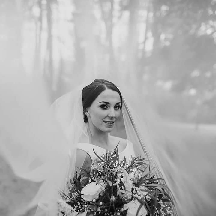 Michaela looked amazing on her wedding day at Abbey House Hotel and gardens. She went for a smooth elegant low updo that complimented and enhanced her wedding dress. - Make Me Bridal Artist: Hair Creations North West. Photography by: Ladybirds Photography. #classic #hairup #weddinghair #bridalhair #veil #bride #eleganthair #smoothupdo #haircreationsnorthwest #ukhair