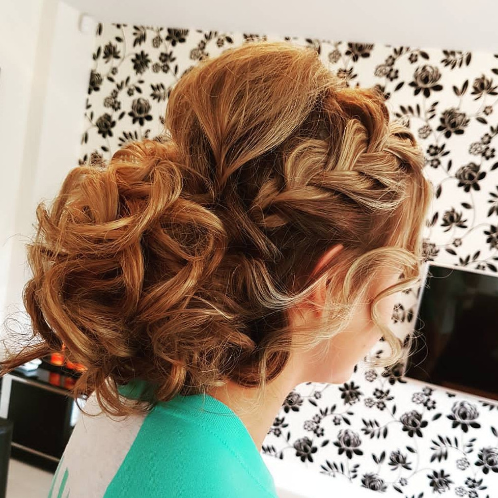 This is one my faves i created. I get a lot of requests for this style. - Make Me Bridal Artist: Hair Creations North West. #curls #hairup #plait #plaitupdo