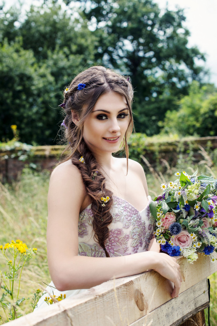 - Make Me Bridal Artist: Catherine Strong Hair & Make-up. Photography by: Jennifer Sinclair. #glamorous #bridalhair #flowersinherhair #bridalmakeup #fishtailbraid #bohobride #botanical #naturalmakeup