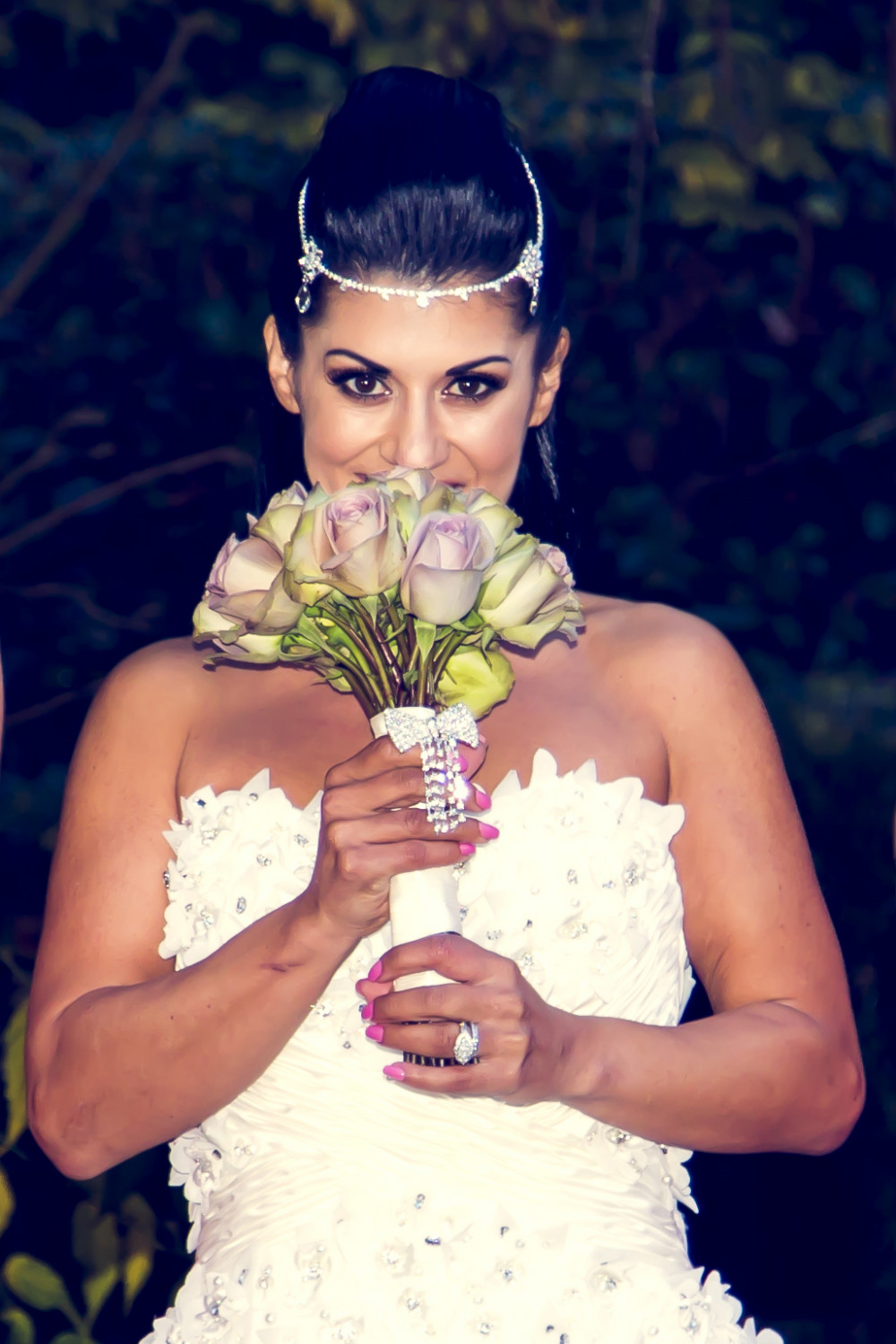 South Lodge Wedding. Hair and Make Up by me. The brides personality was expressed with her statement choice of hairstyle and hair accessory. I love the intensity of her make up. - Make Me Bridal Artist: Jenna West Make Up.