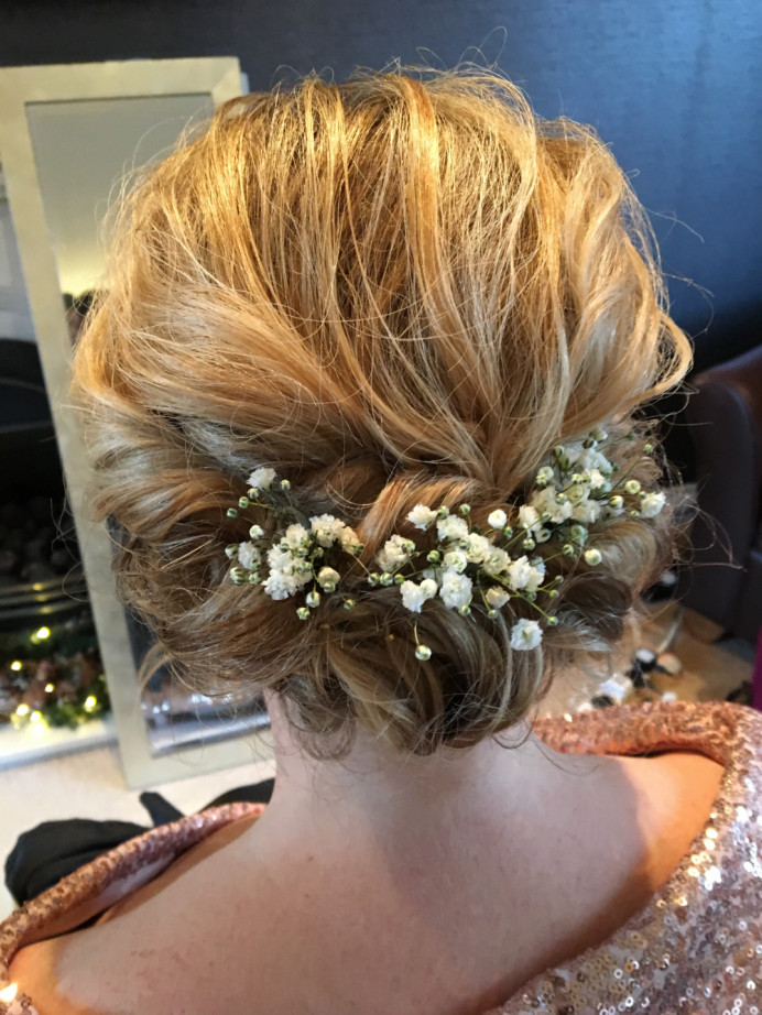 - Make Me Bridal Artist: Lisa gadsby wedding hair specialist . Photography by: Photo taken my me . #bohemian #bridalhair #flowersinherhair #soft #flowers #softupdo #softhairup