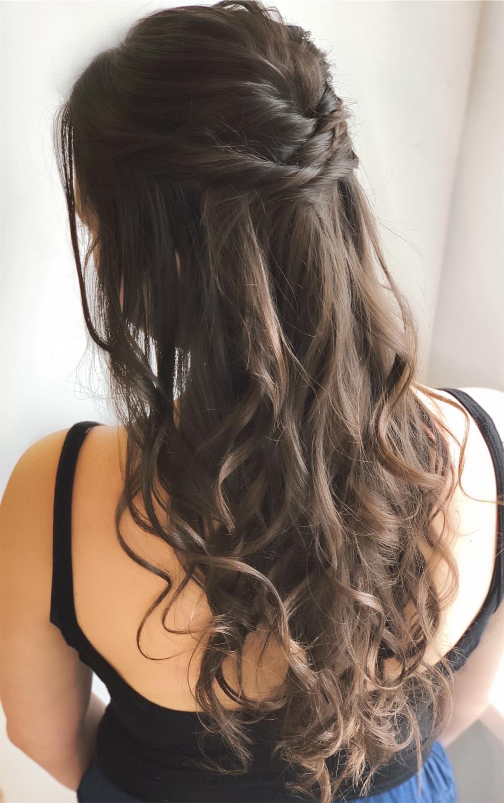 Half up Half down hairstyle - Make Me Bridal Artist: Abigail Blake.