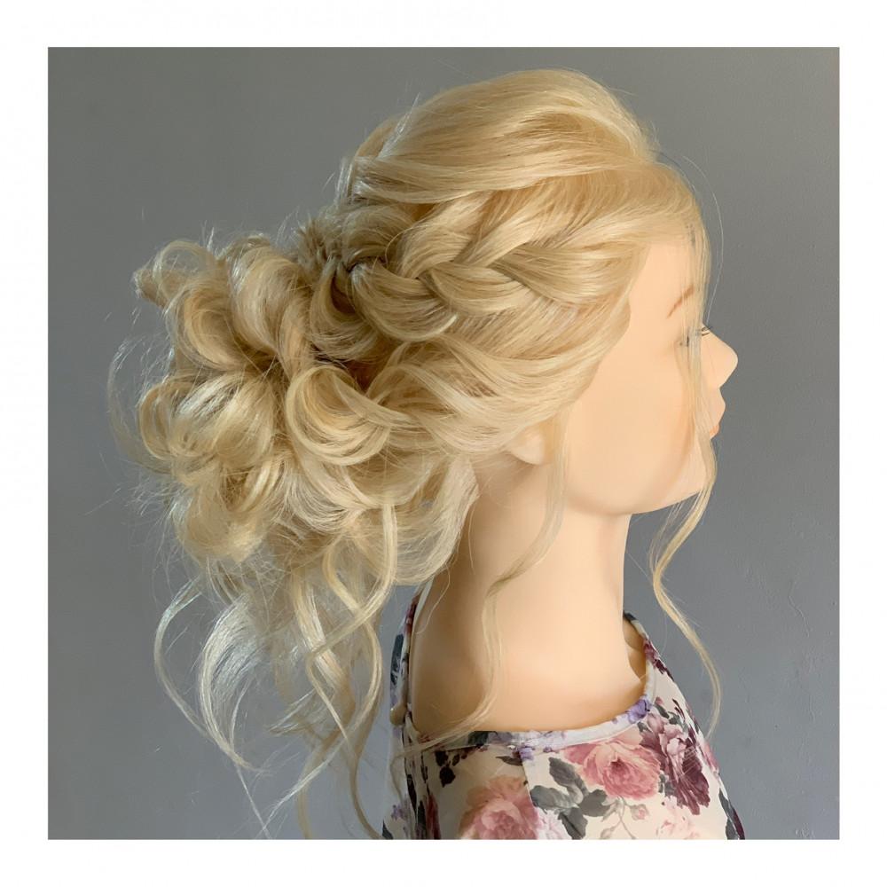 Curly big bun - Make Me Bridal Artist: Abigail Blake. Photography by: Abby.
