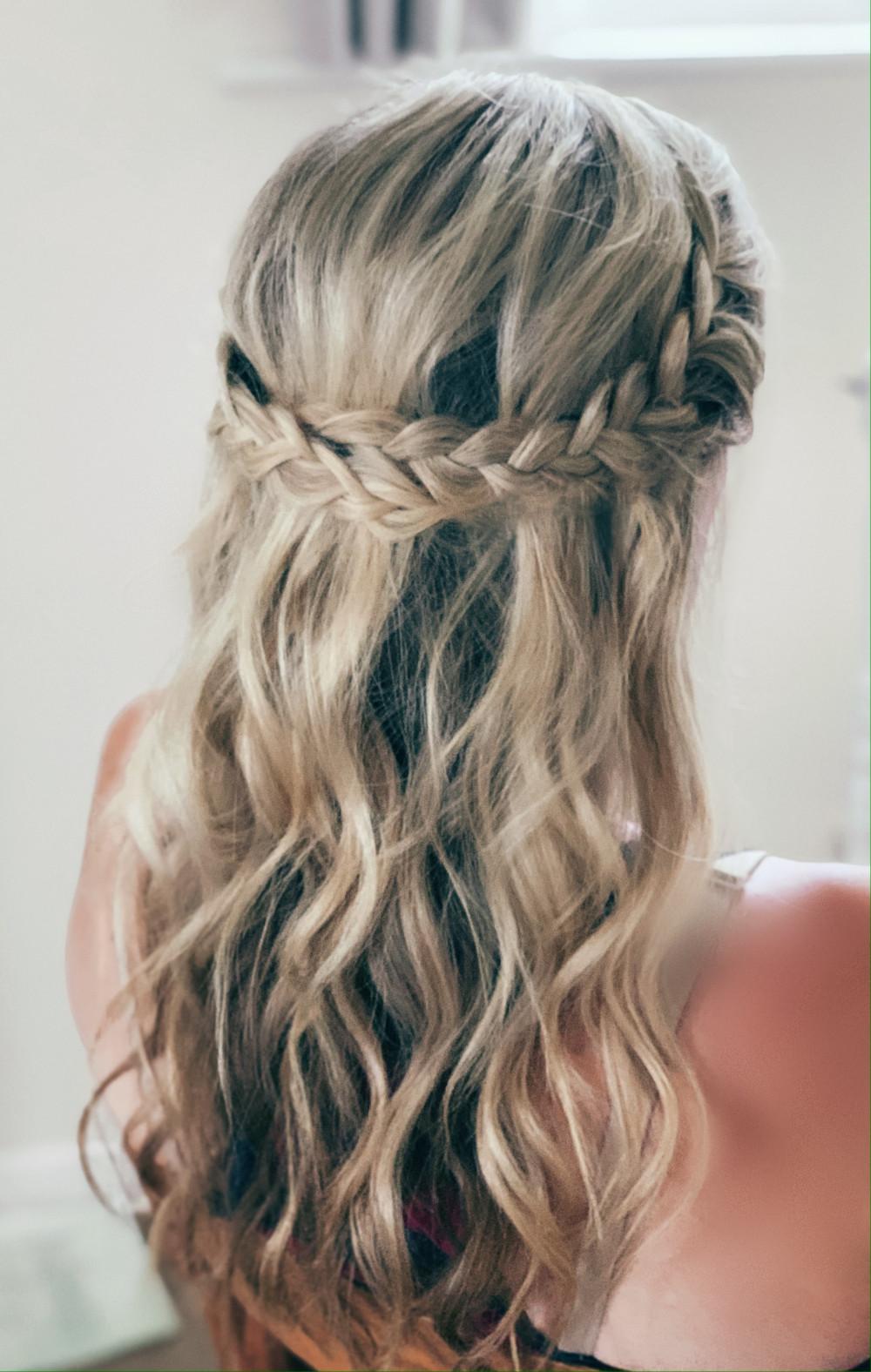 Waves with boho braid - Make Me Bridal Artist: Abigail Blake.