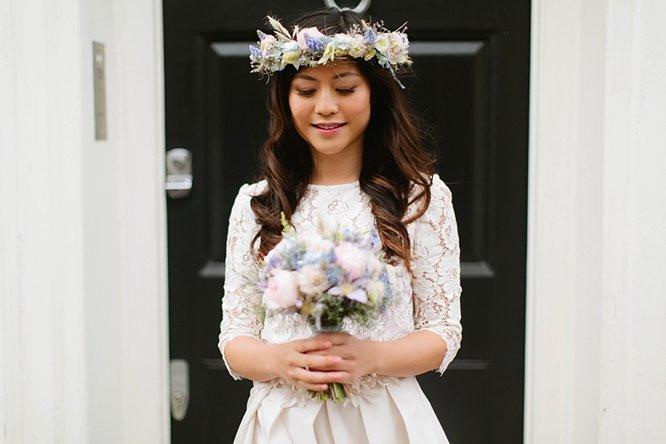 - Make Me Bridal Artist: Arabella Hewitt Make Up Artist. Photography by: Jay Rowden. #boho #flowercrown #naturalmakeup #curls #bridalmakeup #bridalhair #soft #pretty #brunette #tousled