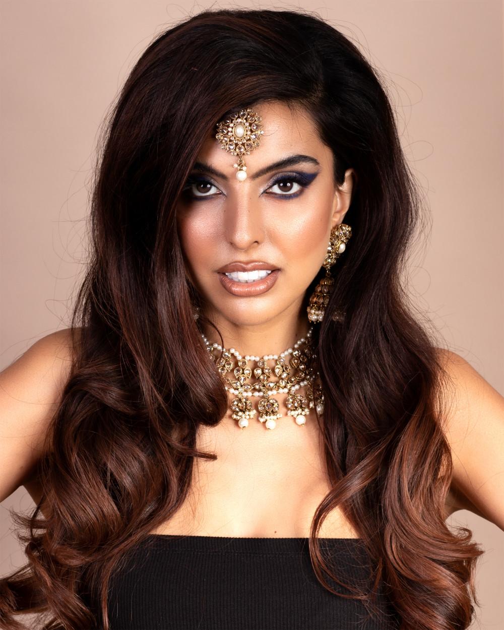 Beautiful Indian Bride  Makeup by me Hair by Nicola from Bespoke Bridal Hair   Www.bespokebridalhair.co.uk - Make Me Bridal Artist: Rosie Cerosio Makeup. Photography by: Jasmine Boulton. #indianbride #glambride #beautifulbridalmakeup