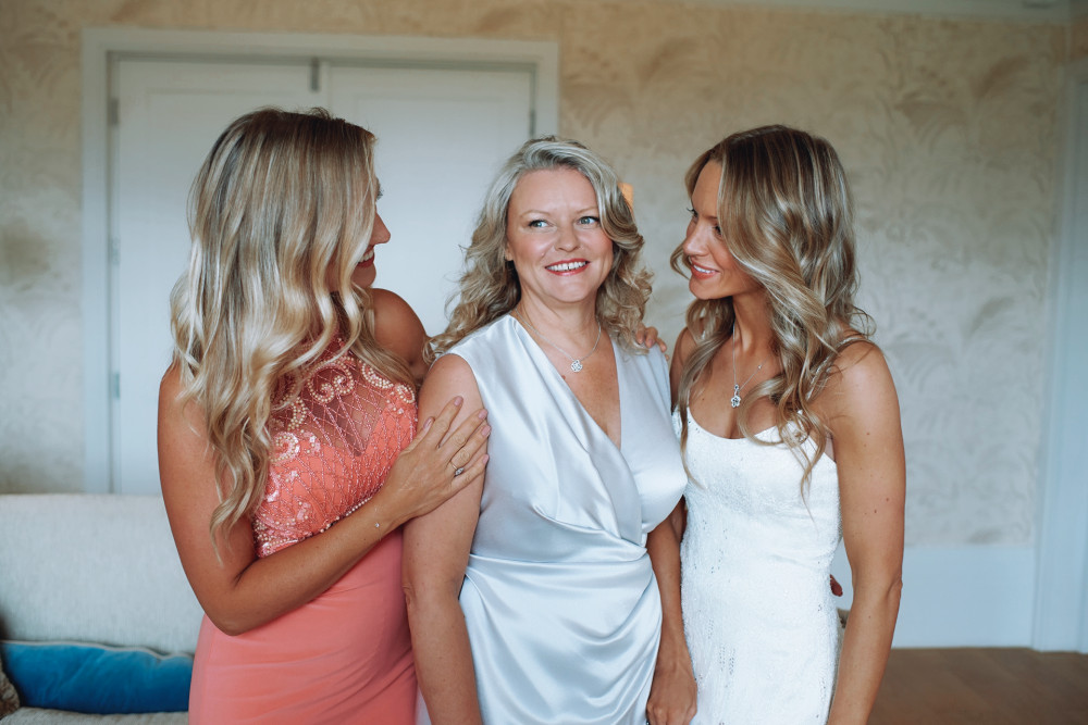 My Bride, Celeste with her mother and bridesmaid.