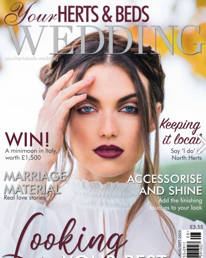 My makeup featuring on the cover shot of Your Wedding magazine. - Make Me Bridal Artist: Sabina Ventriglia Makeup Artist. Photography by: Clare Davis. #bridalmakeup #bride #editorial #makeup