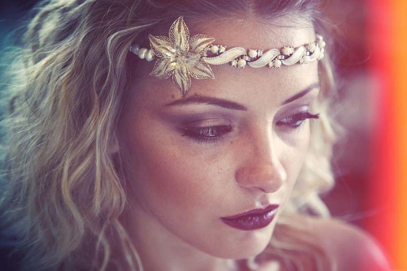 A boho style created for an editorial. - Make Me Bridal Artist: Sabina Ventriglia Makeup Artist. Photography by: Ruth Rose. #bohemian #bridalmakeup #editorial #makeupartist