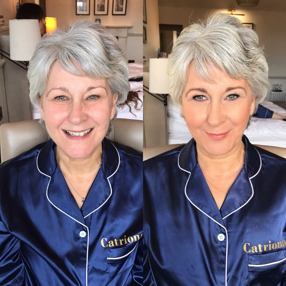 A before and after. - Make Me Bridal Artist: Sabina Ventriglia Makeup Artist. Photography by: NA. #naturalmakeup #weddingmorning #bridalmakeup #makeupartist #bridalparty
