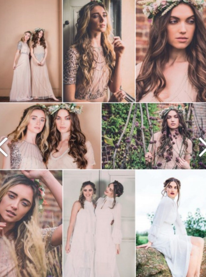 Hair that i styled for a bridal editorial shoot which was featured in a wedding magazine. - Make Me Bridal Artist: RDWhair. Photography by: Clare Davis. #bohemian #editorial #styledshoot