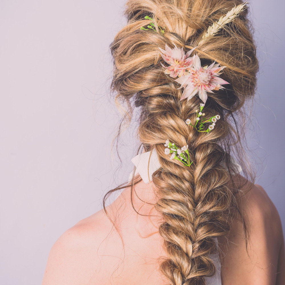 A beautiful bohemian plait I styled for a shoot. - Make Me Bridal Artist: RDWhair. Photography by: Clare Davis. #bohemian #plaits #editorial #styledshoot