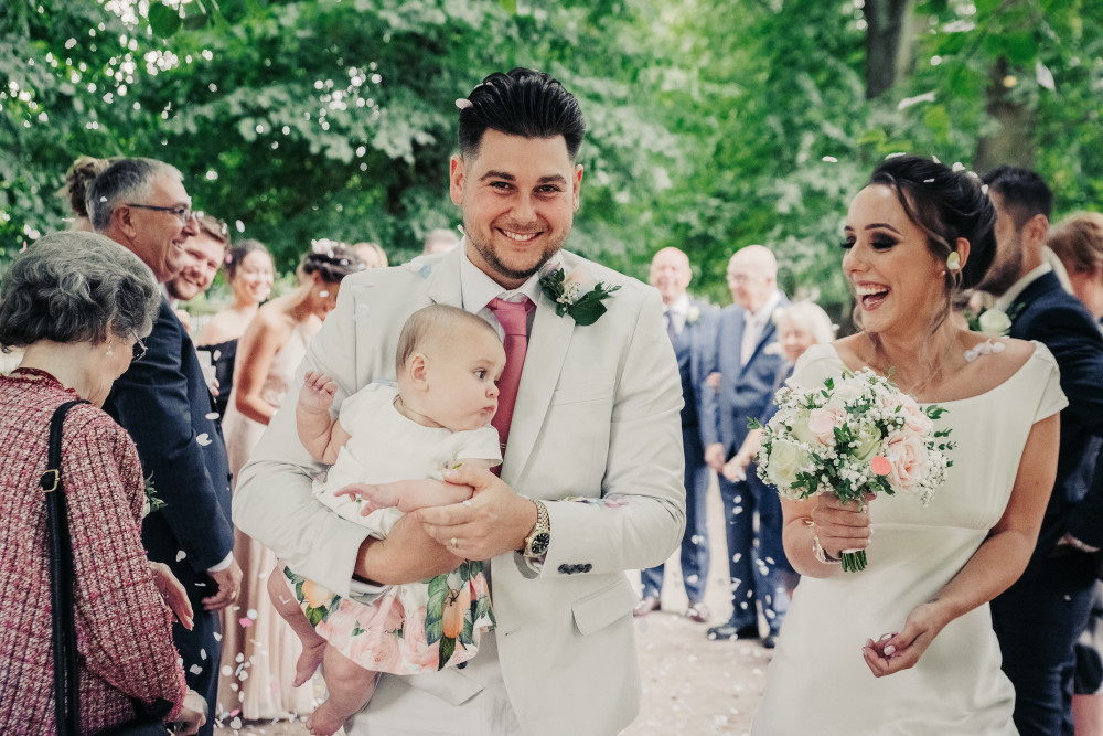 A gorgeous family from a 2019 wedding. - Make Me Bridal Artist: RDWhair. #bridalhair #softupdo