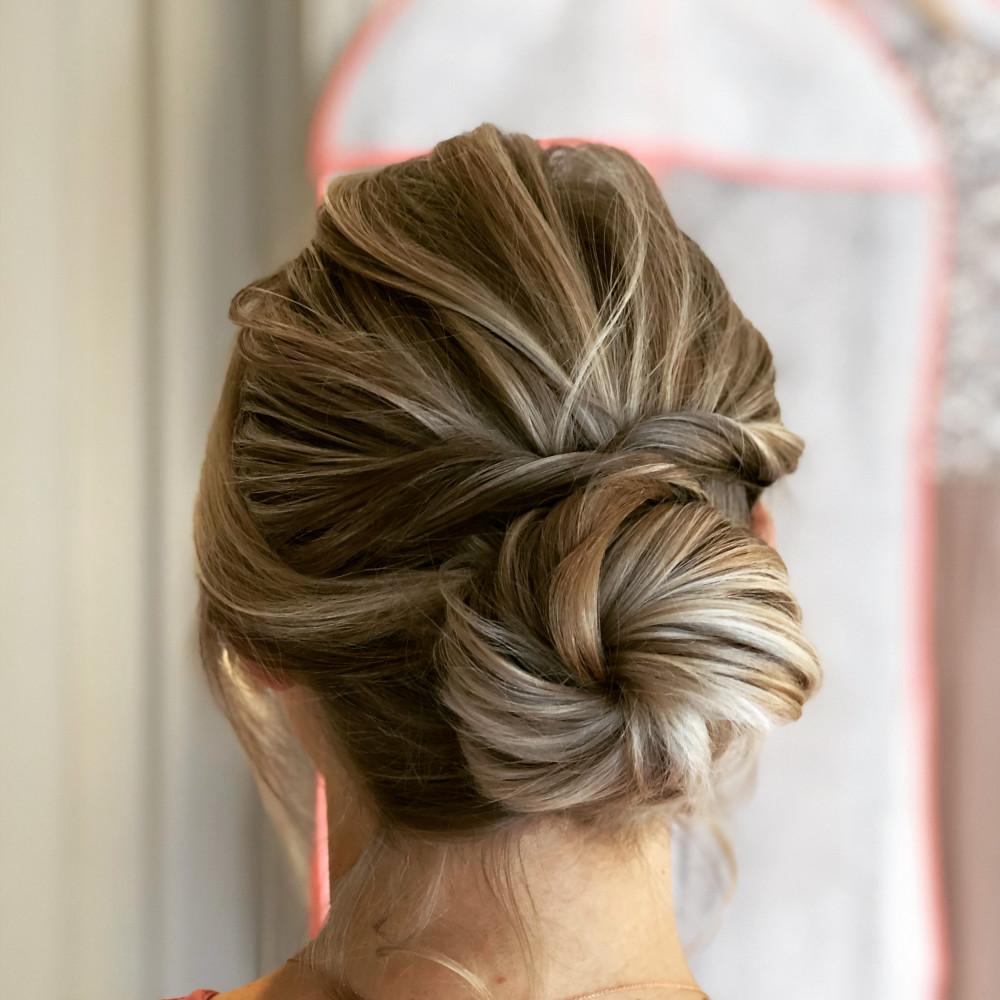 A beautifully soft updo. - Make Me Bridal Artist: RDWhair. #bridesmaidhair #softupdo