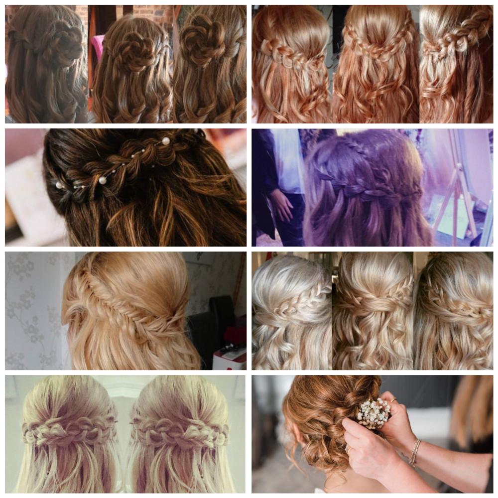 - Make Me Bridal Artist: Beautystyle. Photography by: My own image. #boho #halfuphair #bridalhair #weddinghair #fishtailbraid #weddinghairandmakeup #bridalhairup #plaitupdo