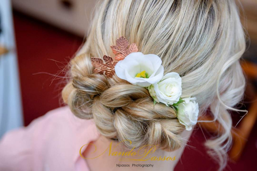 - Make Me Bridal Artist: Beautystyle. Photography by: Studio Enzo. #bohemian #bridesmaidhair #braidedupdo #weddinghair #bridalhairstylist #weddinghairandmakeup
