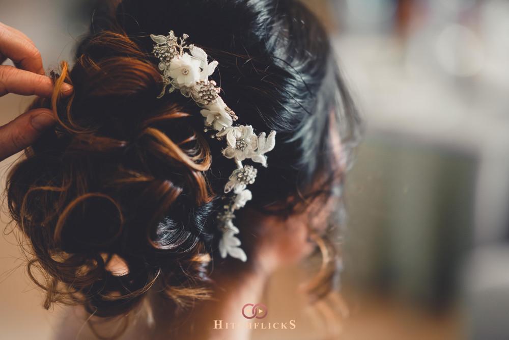 - Make Me Bridal Artist: Beautystyle. Photography by: Hitchflicks. #bohemian #classic #vintage #glamorous #romantichairup #bridalhair #bridalhairandmakeup #curlyupdo #hairaccessory