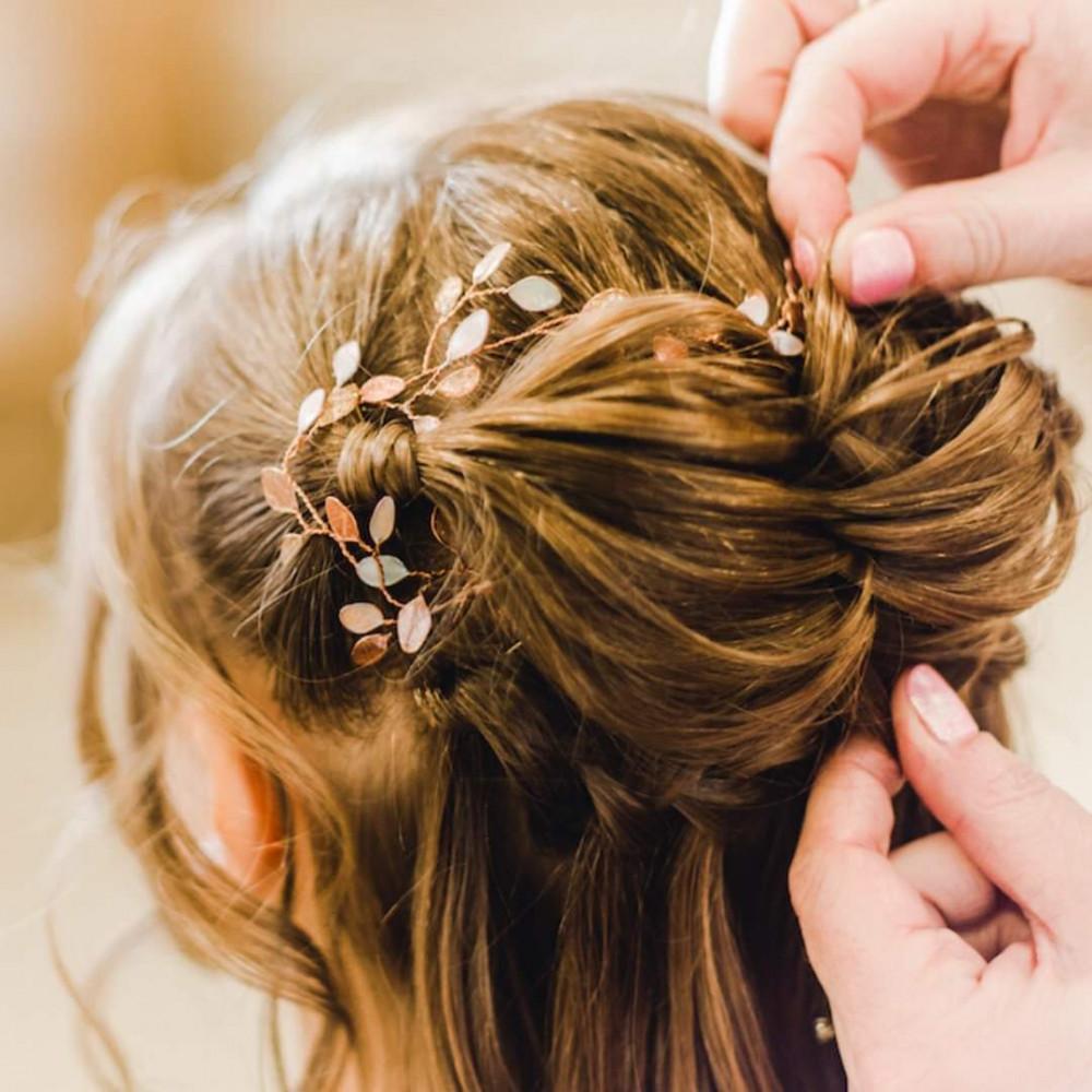- Make Me Bridal Artist: Beautystyle. Photography by: Thomos Harper weddings. #bohemian #halfuphair #bridalhair #flowersinherhair #fishtailbraid #bridalhair #bridalhairandmakeup #bohobride #bohowedding #hairvine