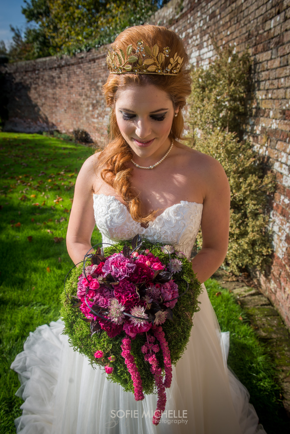 The Orangery Suite, Wimborne - Make Me Bridal Artist: Timeless Beauty by Louise. Photography by: Sofie Smith. #spectrumbruses #weddingday #lauramercier #pink #bold