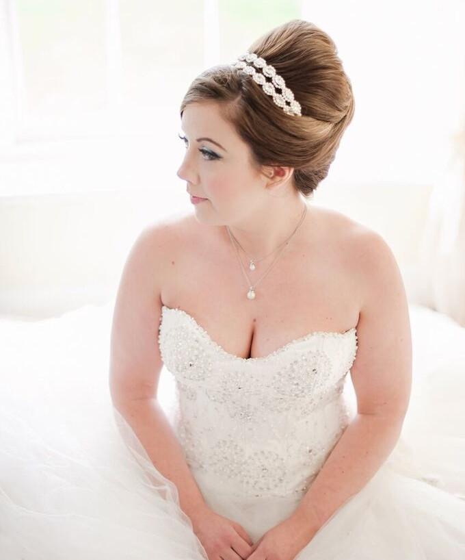 - Make Me Bridal Artist: Timeless Beauty by Louise. #makeupartist #romantic #fairytalewedding #blueeyes #pinkcheeks