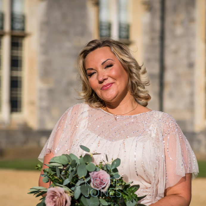 Beautiful Keely at Highcliffe Castle - Make Me Bridal Artist: Timeless Beauty by Louise. Photography by: Kirstie Jones. #nars #blonde #roselip #glow #elegant #pretty #fresh #classic #freshfaced #perfectmakeup