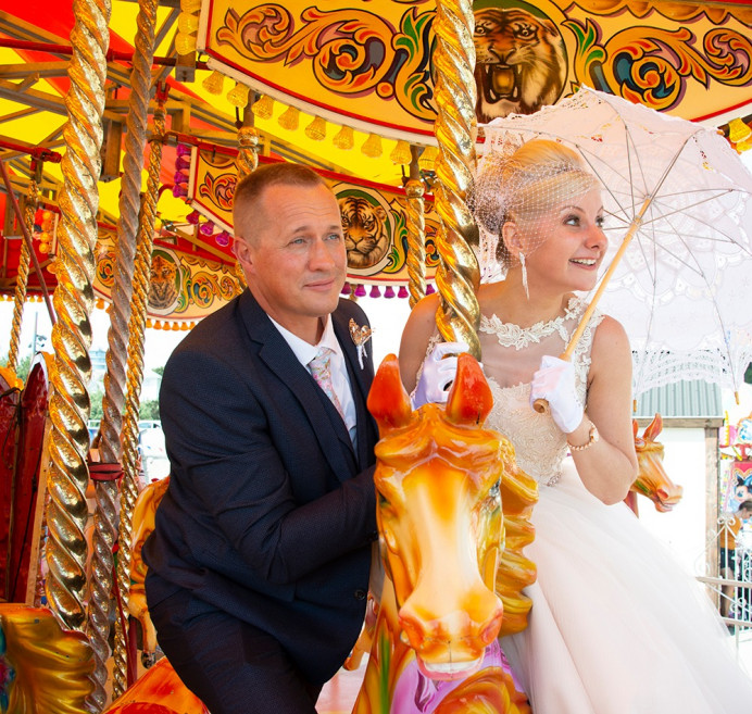 Disney themed wedding that took place in Bournemouth and a quick ride on the Carousel. - Make Me Bridal Artist: Timeless Beauty by Louise. #coolbride #classic #makeup #beauty #mac #bridalmakeup #dorsetmakeupartist #makeupdorset #dorset #weddingmakeupartistdorset