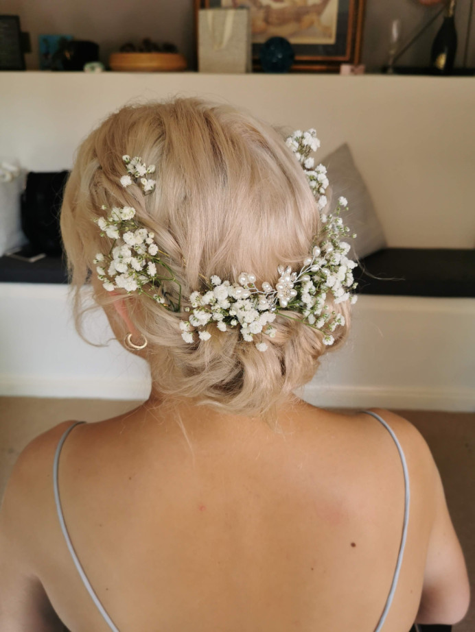 - Make Me Bridal Artist: Butterfly Hair & Makeup. #boho #gypsophila