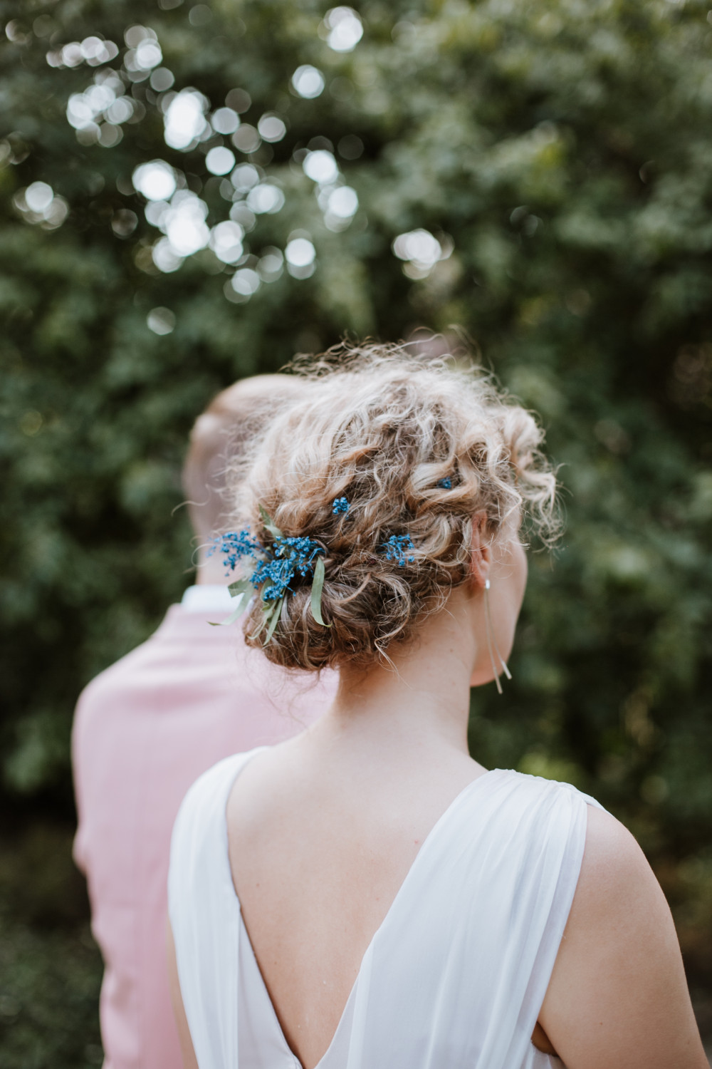 Bride Regina - Make Me Bridal Artist: let's hair. Photography by: Neringa Sunday. #bohemian #classic #curls #gypsophila #updo #lowupdo #relaxedupdo #hairup #braidedupdo #weddinghair #bridalhairstylist #hairup #bohobride #bride #relaxedhairup #realbride #naturalbride #curlyhair #curlyupdo #curlybun #curlyupdo #realflowers